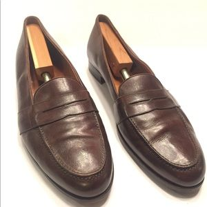 13 B Italy Ralph Lauren Polo Penny Loafers